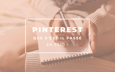 Pinterest en 2020 : que s'est-il passé ?
