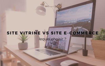 Site vitrine VS site e-commerce : lequel choisir ?